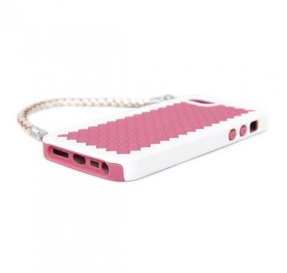 New York - Handbag Case with Silicone Liner for iPhone 5 (Rose Pink)