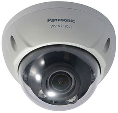 panasonic wv-v2530l1 2mp dome network ip camera