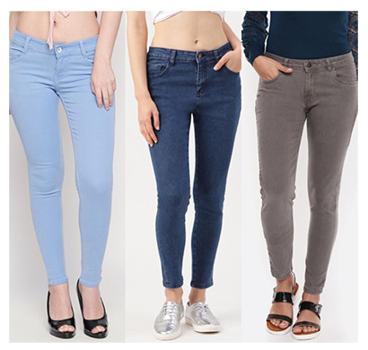 pink (lme-silky ibbasgr) women western wear - western bottomwear - jeans -regular- silky (ice , basic and grey)