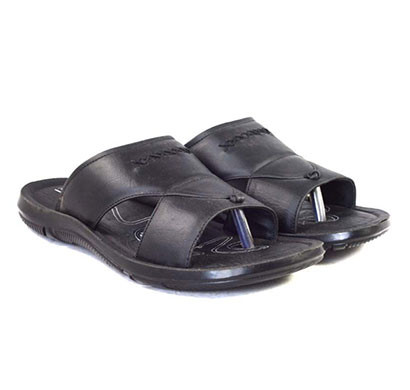 POKROK Men Pu casual slipper (dabloo1-black)