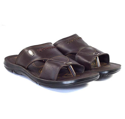 pokrok men pu casual slipper (dabloo1-brown)