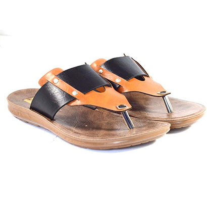 pokrok men pu casual slipper (voot8) black, brown, tan