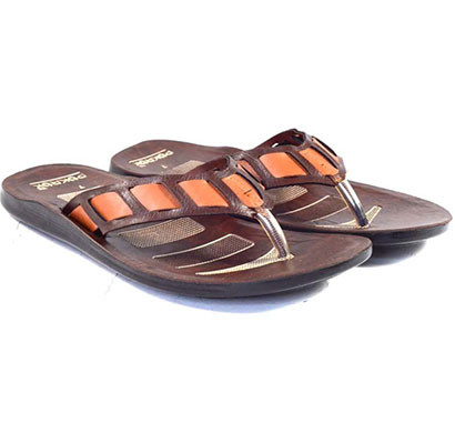 pokrok men pu casual slipper (pastel) brown