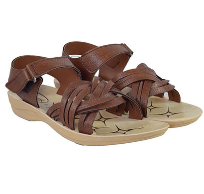 pokrok women pu stylish sandal (zoos7) brown, ten