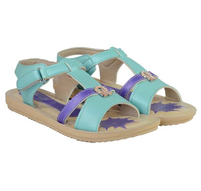 pokrok women pu stylish sandal (tictoe2) ten, skyblue, navyblue