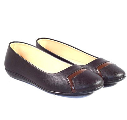 pokrok women pu stylish belly shoes (number2) brown