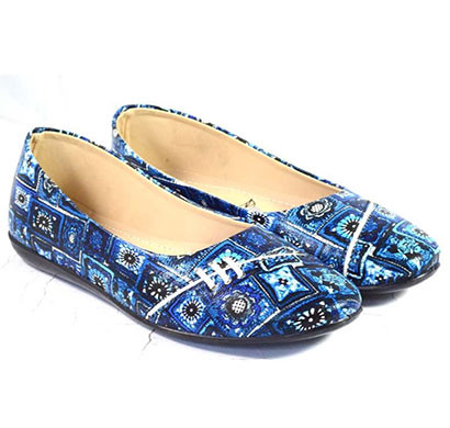 pokrok women pu stylish belly shoes (number4) blue, brown, red, tan