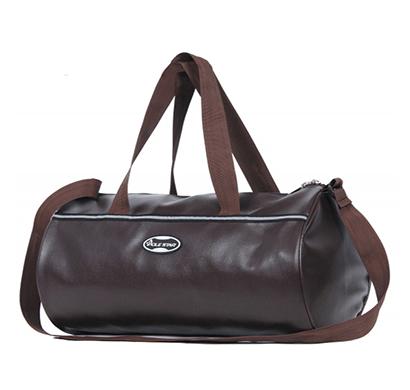 PoleStar Leatherette Duffel Gym Bag (Brown)