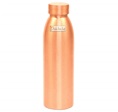 Prisha India Craft Seam Less Pure Copper Water Bottle New Style Storage Water, Travel Essential, Yoga, Copper Bottles/ Capacity 1000 ML