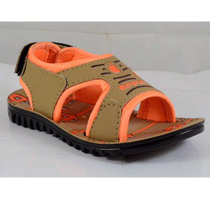 PU Hills 5 To 10 Kids Sandal Tan Orange
