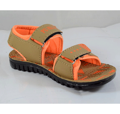 PU Hills Size 5 To 10 Kids Sandals Tan Orange