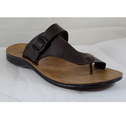 PU Hills 7 To 10 Size Men Slipper Brown
