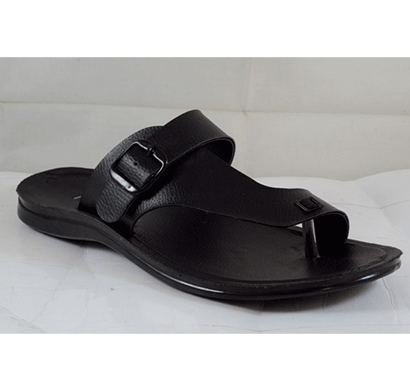 PU Hills 7 To 10 Size Men Slipper Black