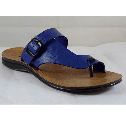 pu hills v - shape men slipper 7 to 10 size blue