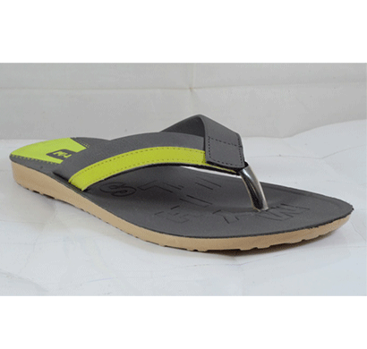 PU Hills 7 To 10 Size v - shape Men Slipper Grey Green