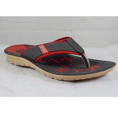 PU Hills 7 To 10 Size v - shape Slipper Grey Red