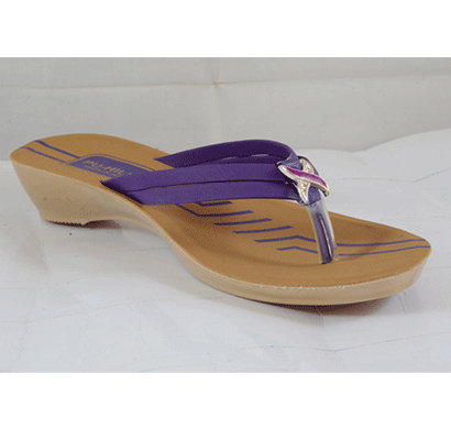 PU Hills 5 To 8 Size v - shape Slipper Purple
