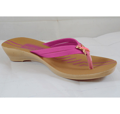 PU Hills 5 To 8 Size v - shape Men Women Slipper Pink