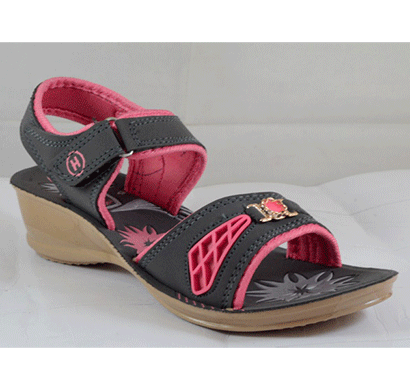 PU Hills 5 To 8 Women Sandal Grey Pink