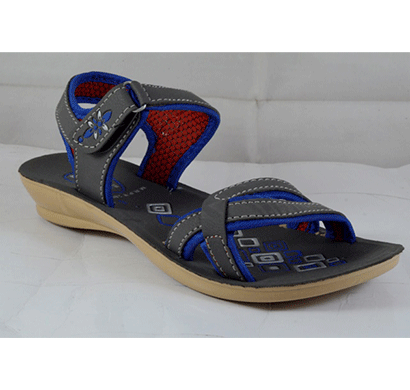 pu hills 5 to 8 women sandal grey blue