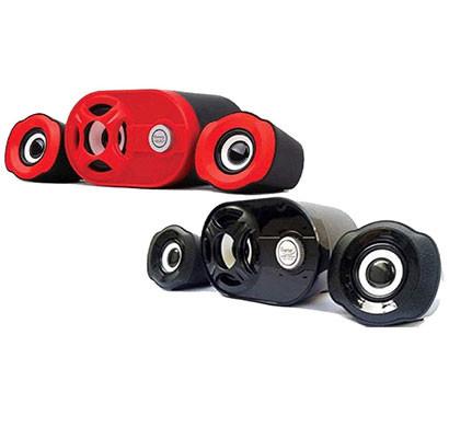 QUANTUM QHM6200 USB 2.1 Mini Speaker (Black Or Red)
