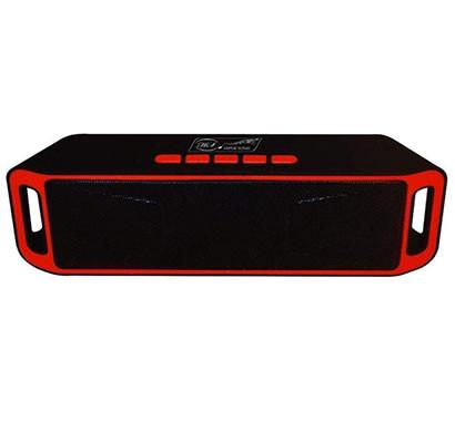 QUANTUM HS4222 Portable Bluetooth Speaker (Black And Red)