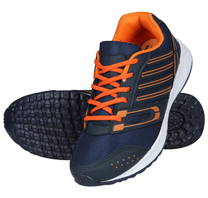 redon men's sports shoes/ running shoes/ gym shoes/ athletic shoes/ walking shoes/ stylish sports running shoes (blue & orange)