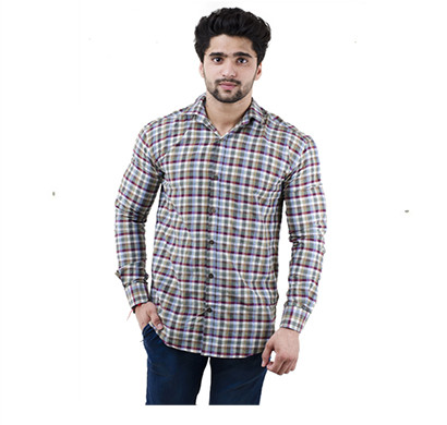 ritzzy 100% cotton collar mens casual shirts multi color