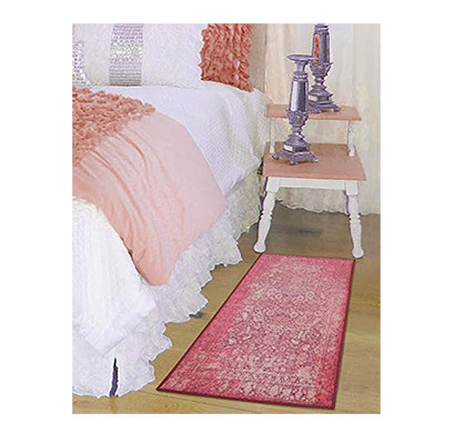 Rugsmith (RS000001) Pink Color Premium Qualty Distressed Pattern Polyamide Nylon ANTIBES RUG Runner