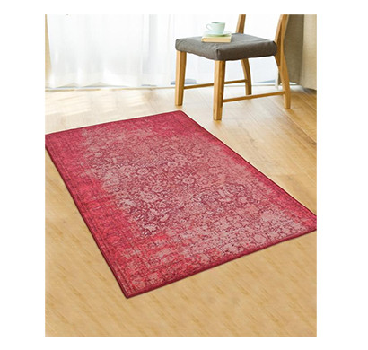 Rugsmith (RS000002) Pink Color Premium Qualty Distressed Pattern Polyamide Nylon ANTIBES RUG Area Rug