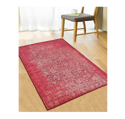 Rugsmith (RS000003) Pink Color Premium Qualty Distressed Pattern Polyamide Nylon ANTIBES RUG Area Rug