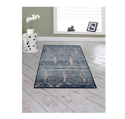 Rugsmith (RS000005) Blue Color Premium Qualty FLORAL Pattern Polyamide Nylon BABYLON RUG Area Rug