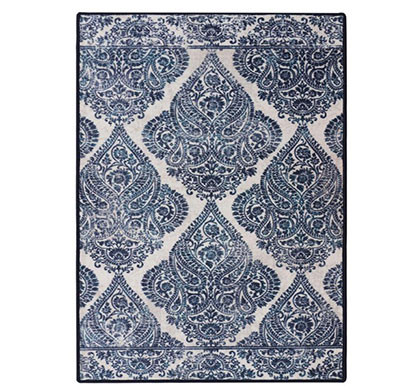 Rugsmith (RS000227) Blue & White Color Premium Qualty CLASSICAL Pattern Polyamide Nylon RAJAH RUG Area Rug
