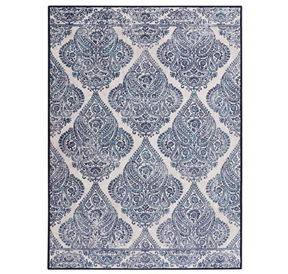 Rugsmith (RS000228) Blue & White Color Premium Qualty CLASSICAL Pattern Polyamide Nylon RAJAH RUG Area Rug