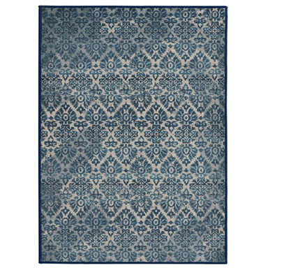 rugsmith (rs000224) light blue color premium qualty classical pattern polyamide nylon damask rug area rug