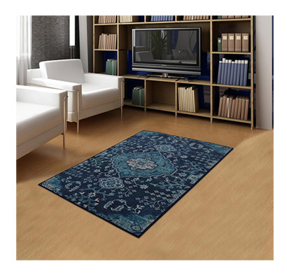 rugsmith(rs000011) rug & carpet blue color premium qualty traditional pattern polyamide nylon blue haze rug area rug