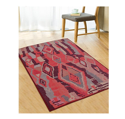 rugsmith (rs000018) rug & carpet rust & pink color premium qualty moroccan pattern polyamide nylon casablanca rug area rug