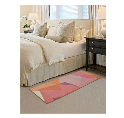 rugsmith (rs000019) rug & carpet pink multi color premium qualty abstract pattern polyamide nylon chroma rug runner