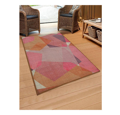 rugsmith (rs000021) rug & carpet pink multi color premium qualty abstract pattern polyamide nylon chroma rug area rug