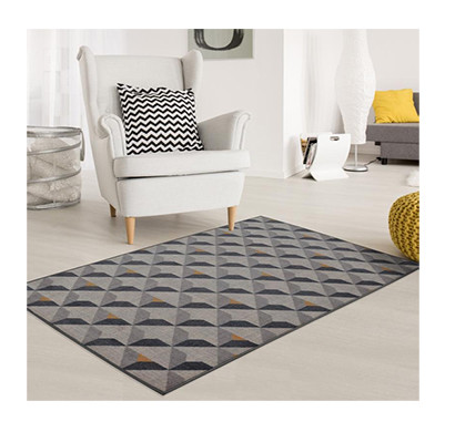 Rugsmith(RS000033) RUGS & CARPETS Grey Color Premium Qualty GEOMETRICAL Pattern Polyamide Nylon DIORITE RUG Area Rug