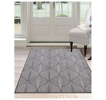 rugsmith (rs000195) grey color premium qualty classical pattern polyamide nylon deco leaf rug area rug