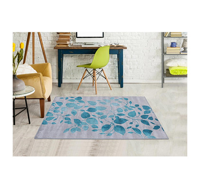 Rugsmith(RS000041) RUGS & CARPETS Vibrant Turquoise Color Premium Qualty FLORAL Pattern Polyamide Nylon IVY RUG Area Rug