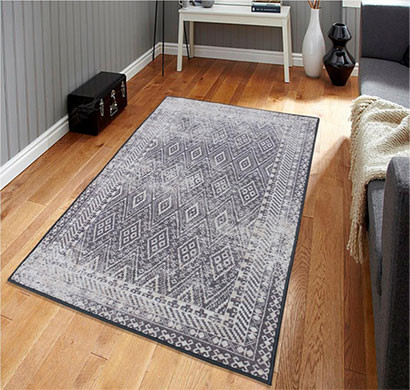 rugsmith (rs000207) grey color premium qualty classical pattern polyamide nylon fairisle rug area rug