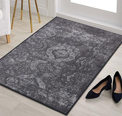 rugsmith (rs000209) grey color premium qualty classical pattern polyamide nylon rococo rug area rug