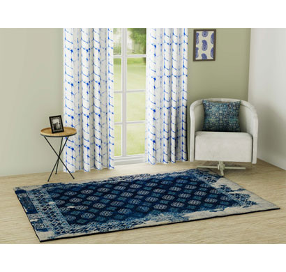 Rugsmith (RS000138) RUGS & CARPETS Midnight Color Premium Qualty Distressed Pattern Polyamide Nylon FRAGMENT RUG Area Rug