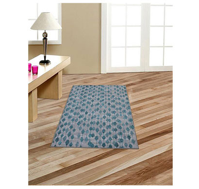 rugsmith (rs000122) rugs & carpets teal blue color premium qualty floral pattern polyamide nylon pendant rug area rug