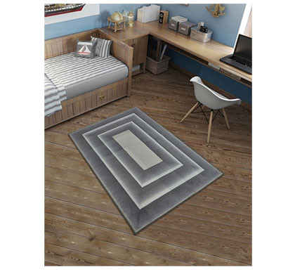 rugsmith (rs000125) rugs & carpets graphite grey color premium qualty geometrical pattern polyamide nylon frame rug area rug