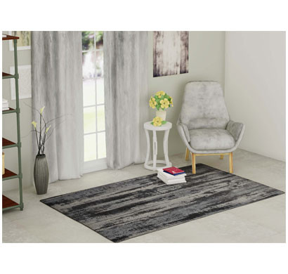 rugsmith (rs000152) rugs & carpets grey color premium qualty modern pattern polyamide nylon oak rug area rug