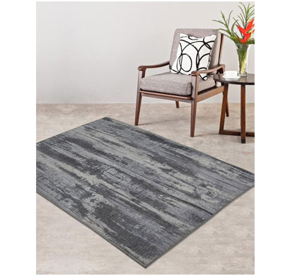 rugsmith (rs000153) rugs & carpets grey color premium qualty modern pattern polyamide nylon oak rug area rug