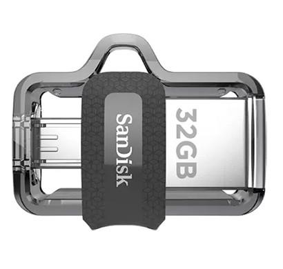 SanDisk Ultra Dual (SDDD3-032G-I35) 32 GB OTG Drive (Black, Type A to Micro USB)